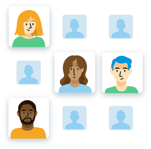 Illustration depicting targeting users for user research.