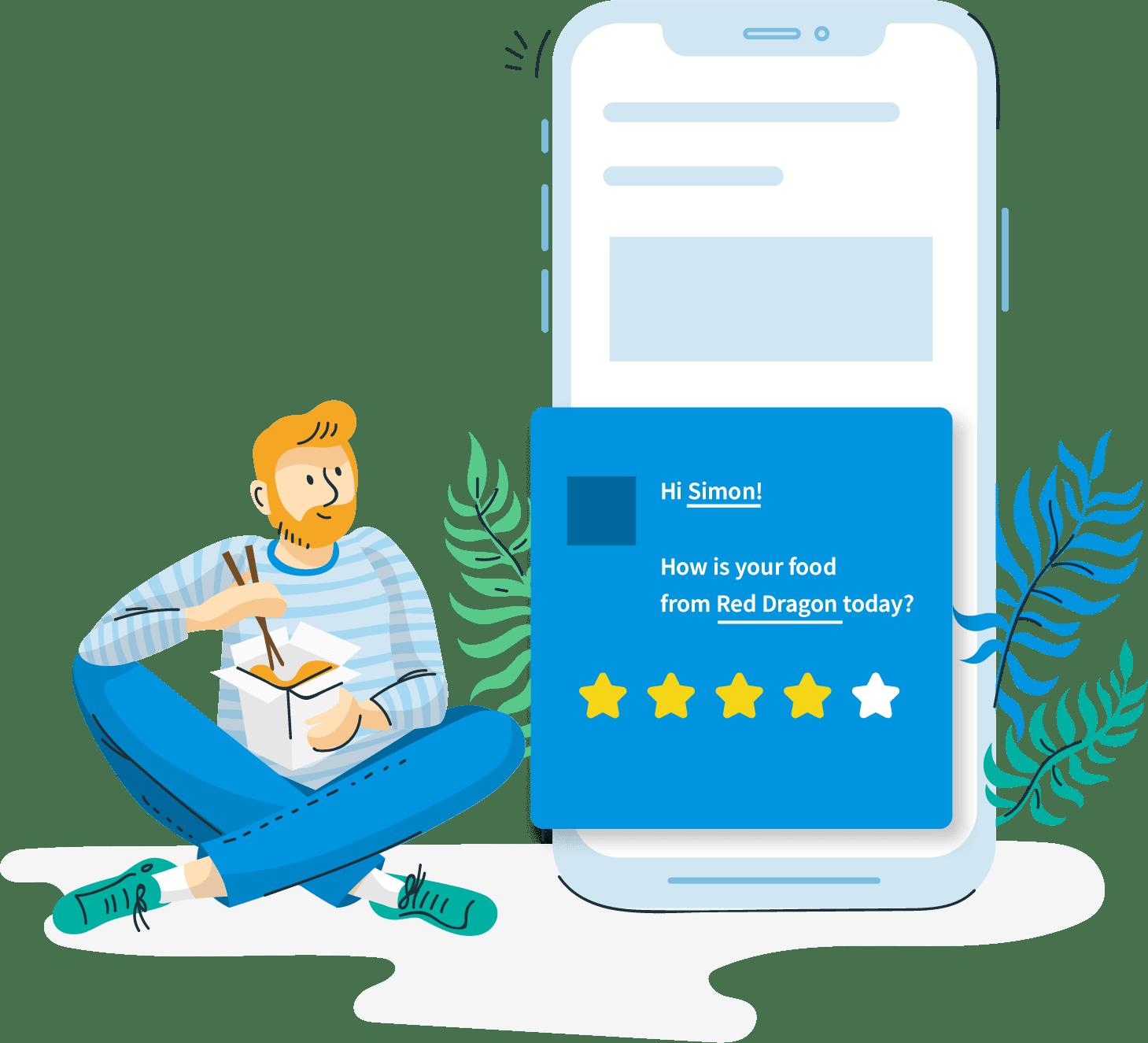 measure on-site customer satisfaction