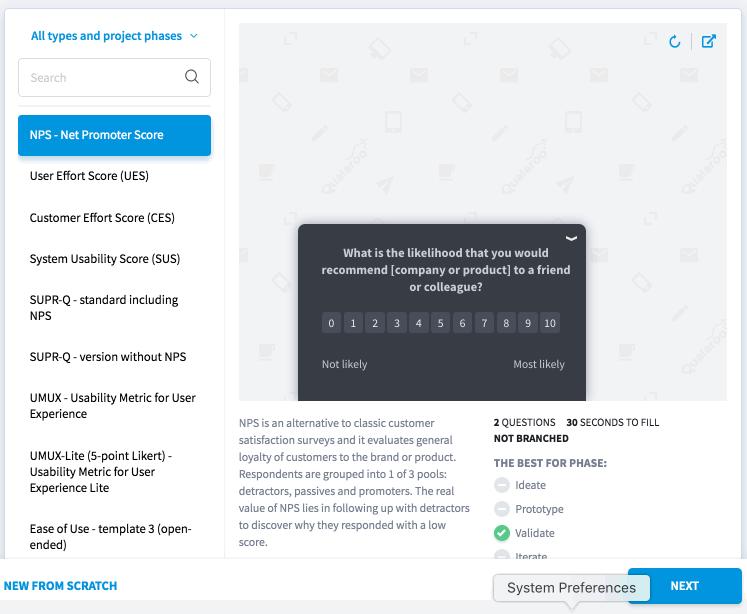 Qualaroo Survey Template