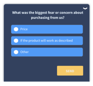 Qualaroo-What was your biggest fear or concern about purchasing from us