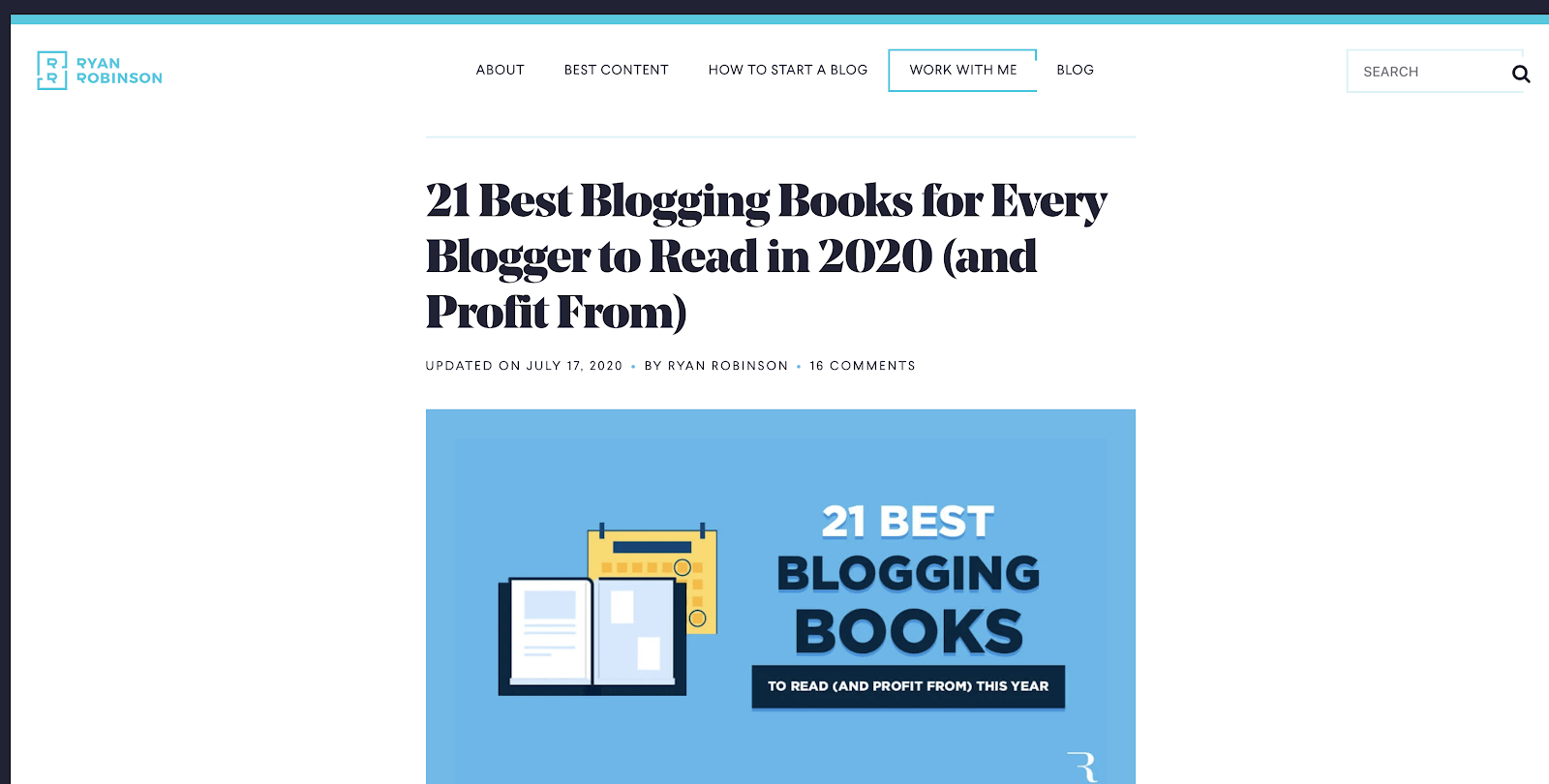 Ryan Robinson - the best blogging books