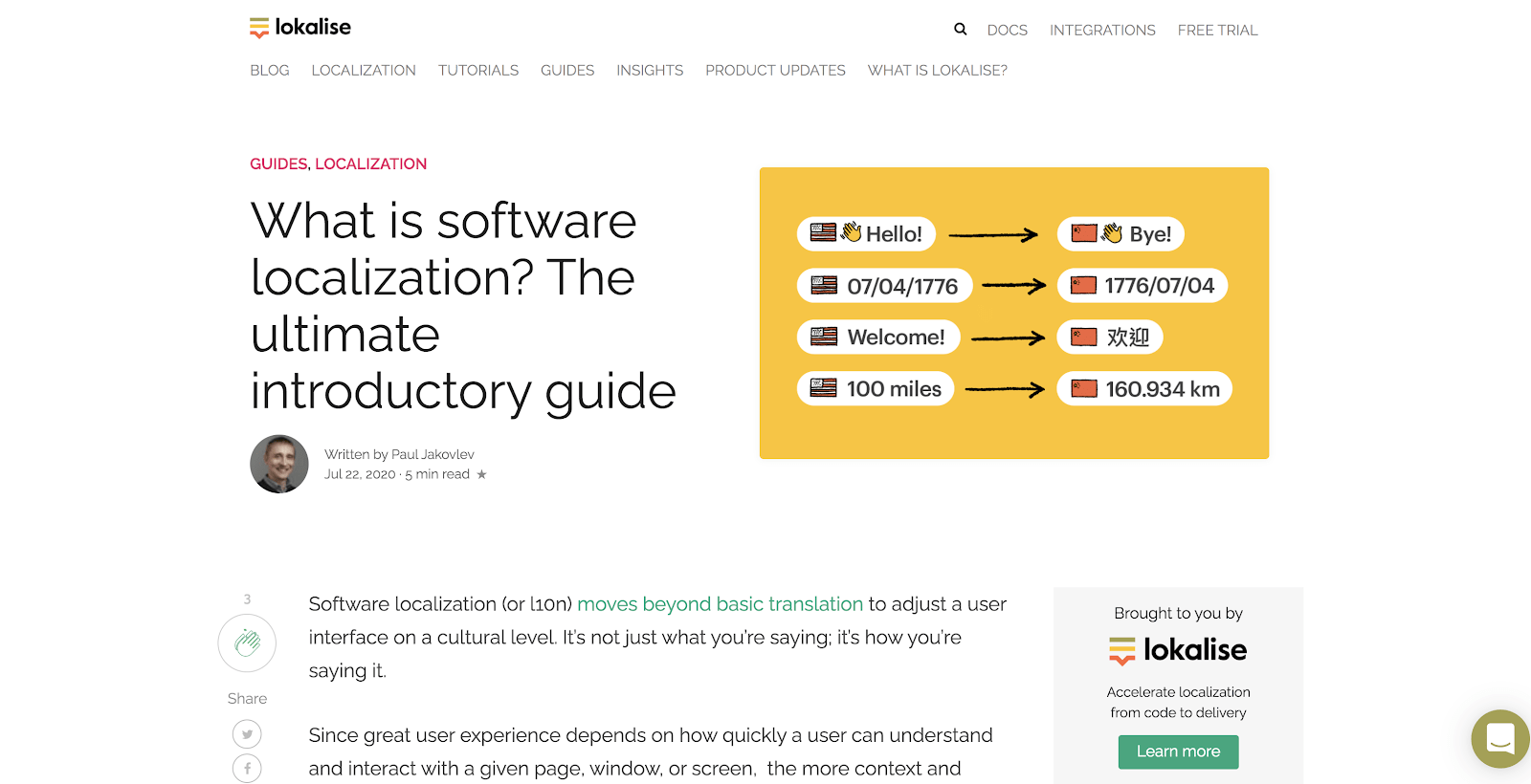 Software localization best practices