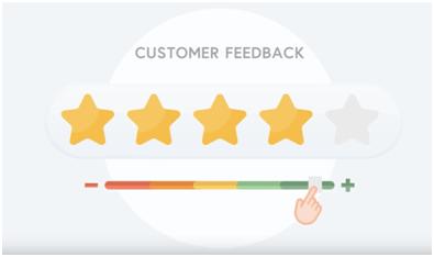 Actionable Feedback Star rating
