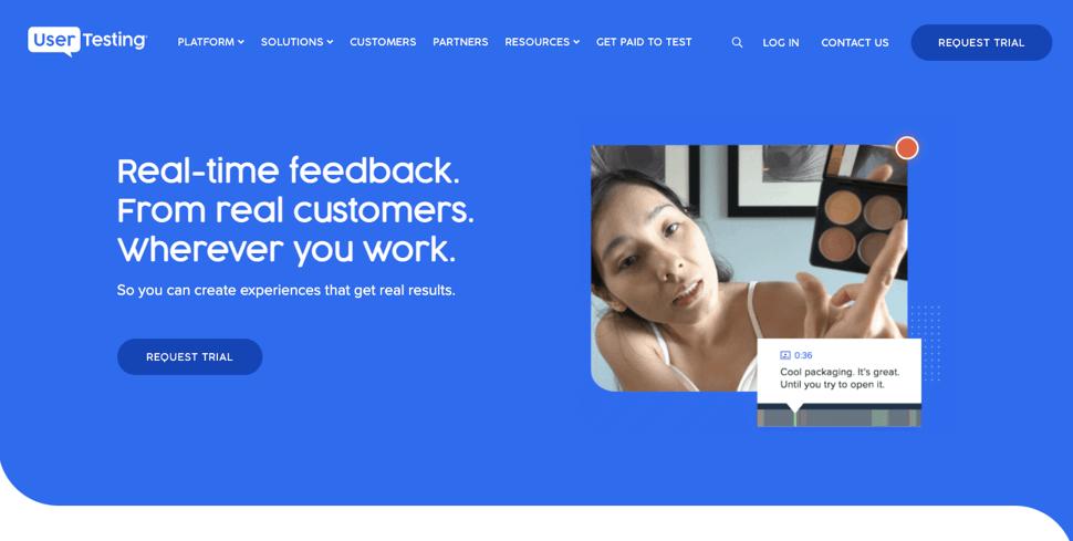 Usertesting customer experience tool