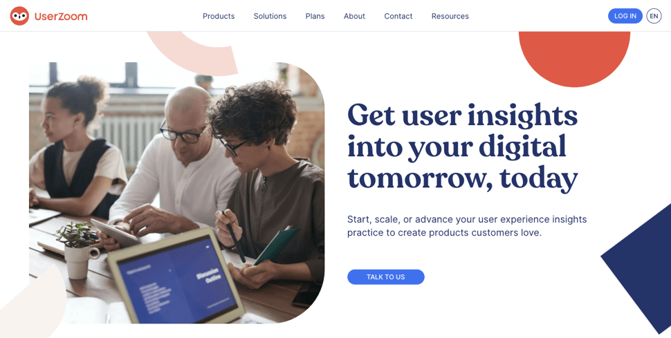 Userzoom for experience management