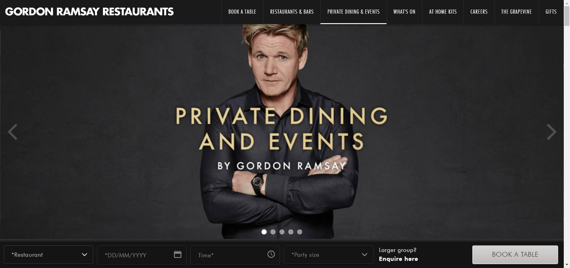 Gordan Ramsey Landing Page