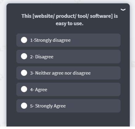 pop-up surveys.