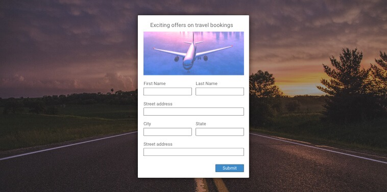 web embedded forms to grow email list