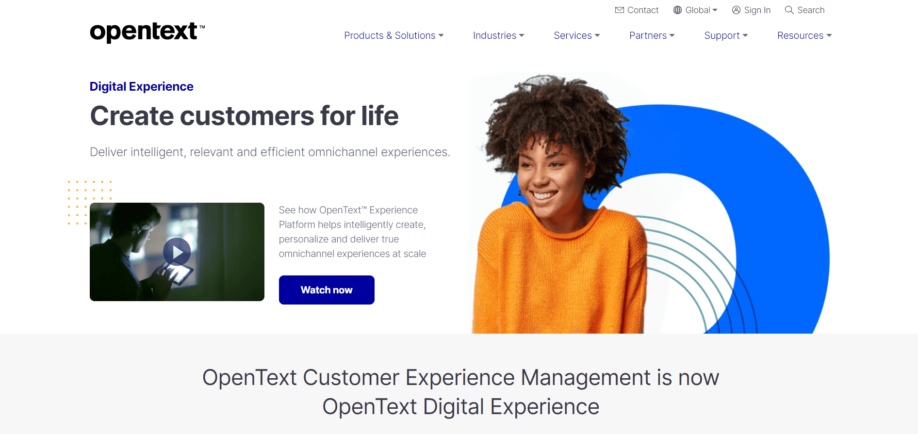 Open text digital experience tool