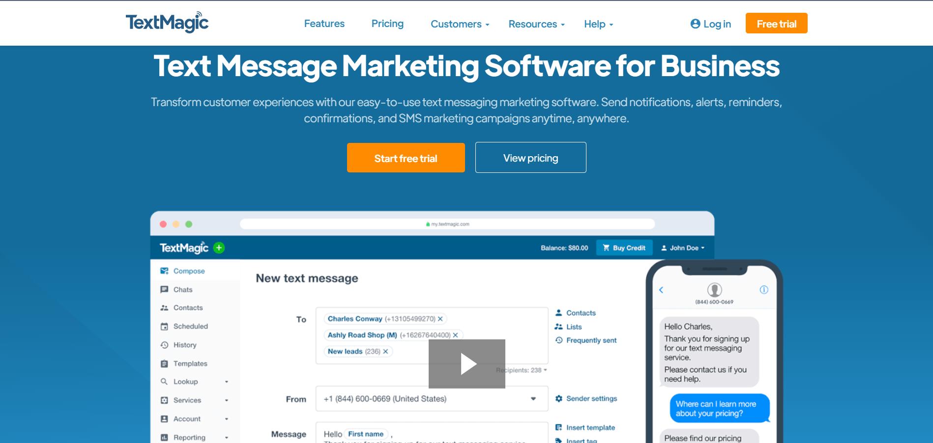 textmagic for customer experience