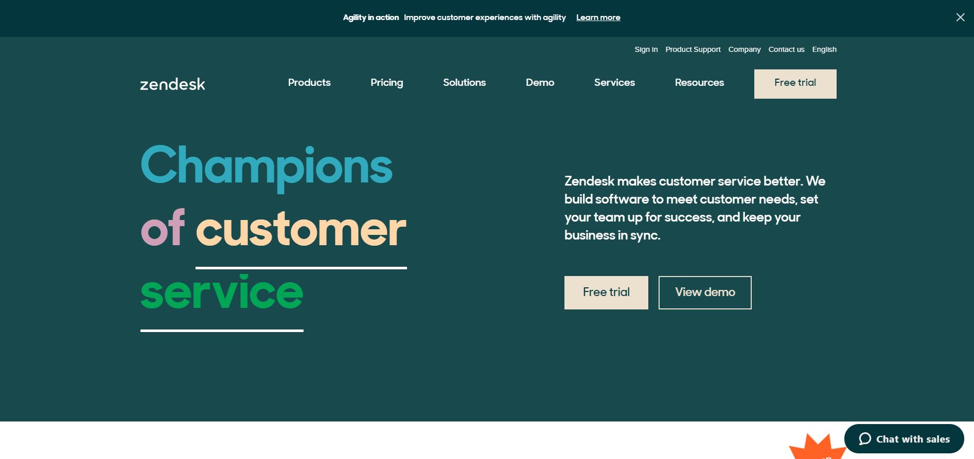 Zendesk Customer experience management tool